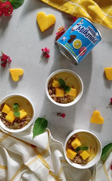 Baked Yoghurt with Fresh Mango